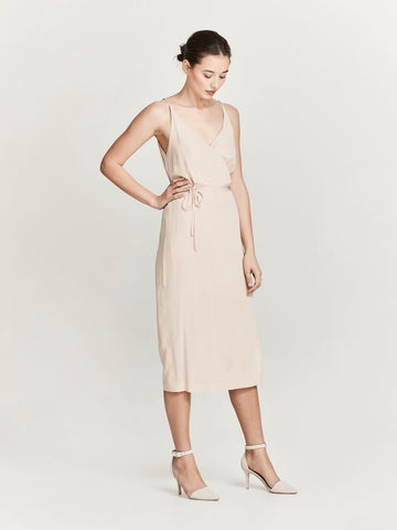 Lorelai Dress (Sand Leopard Silk) Sand