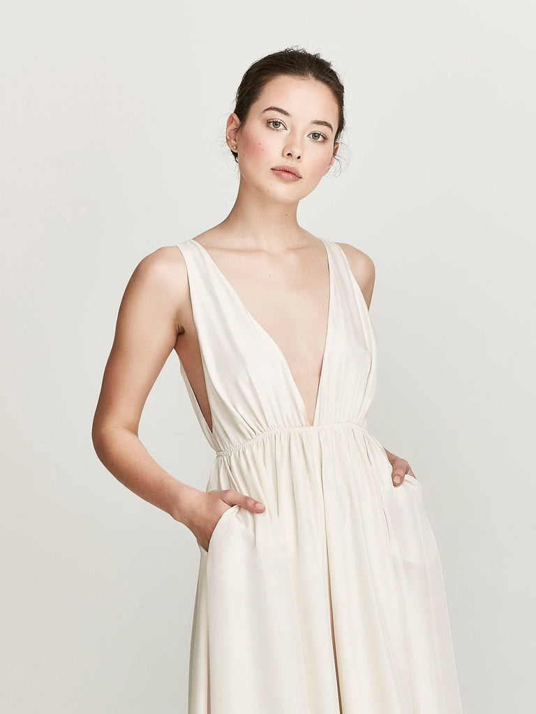Gaia Dress, Talc