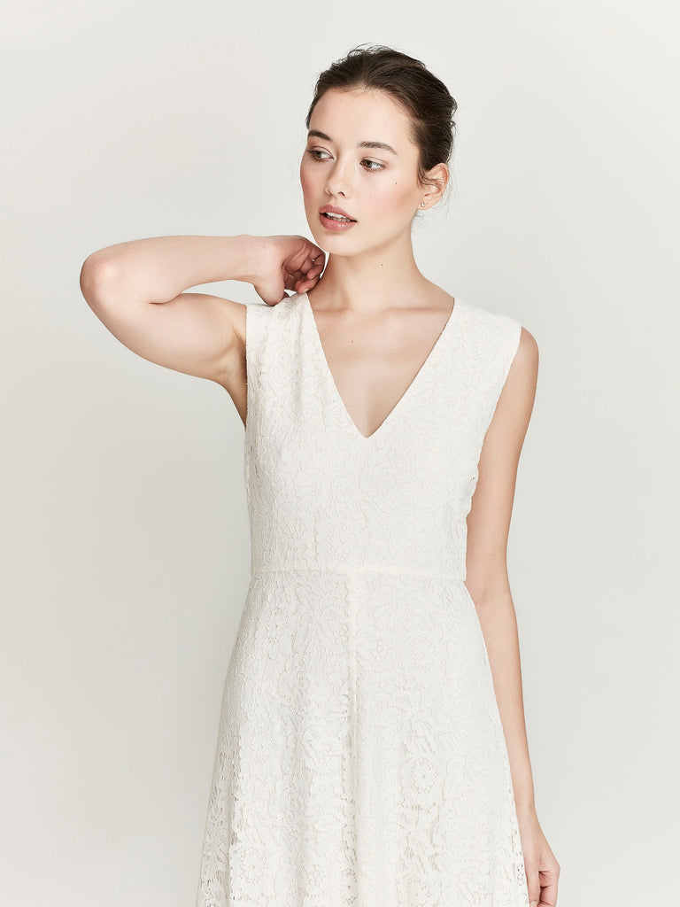 Silhouette Dress, Cream