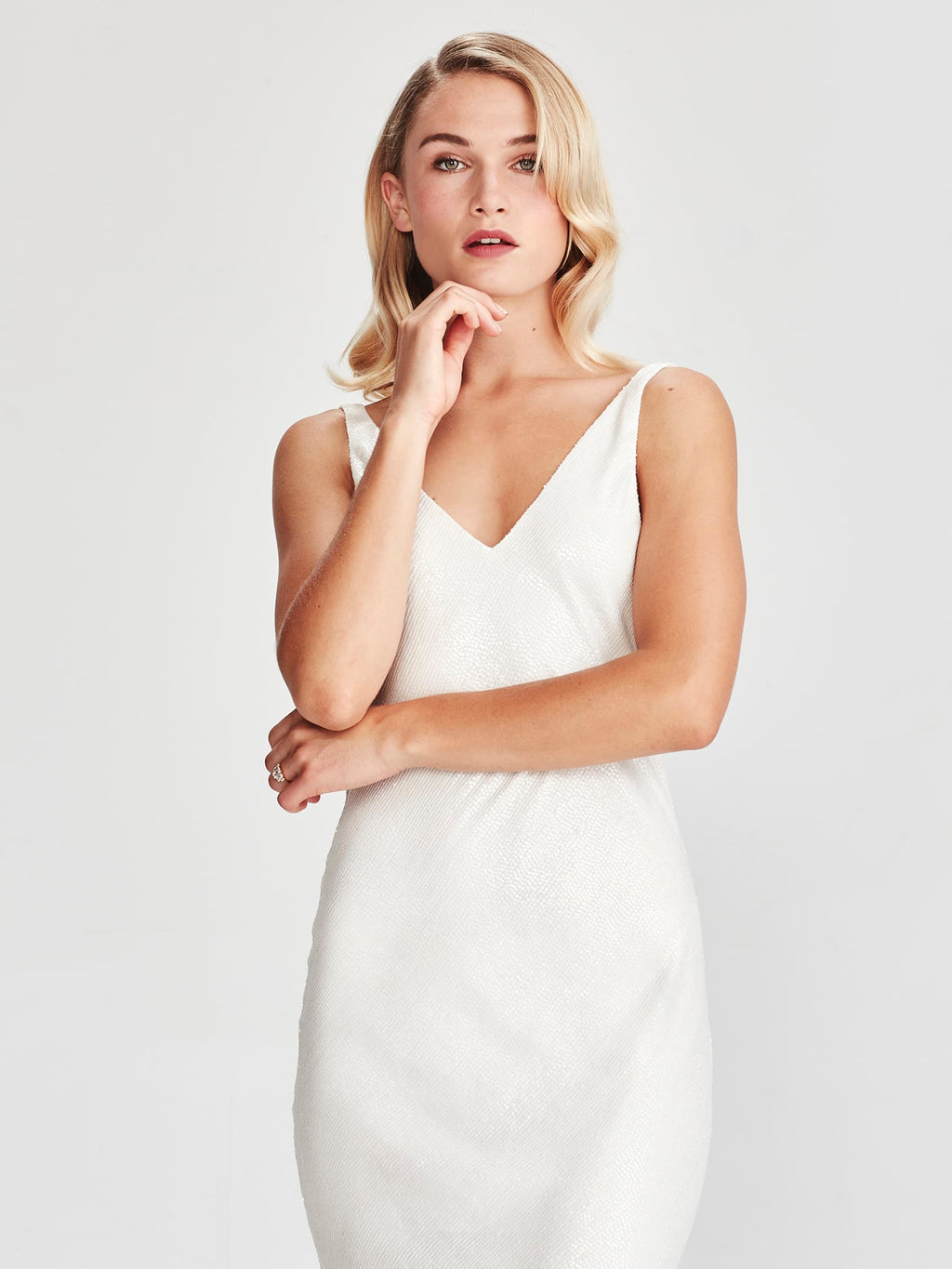 Caroline Dress, Pearl