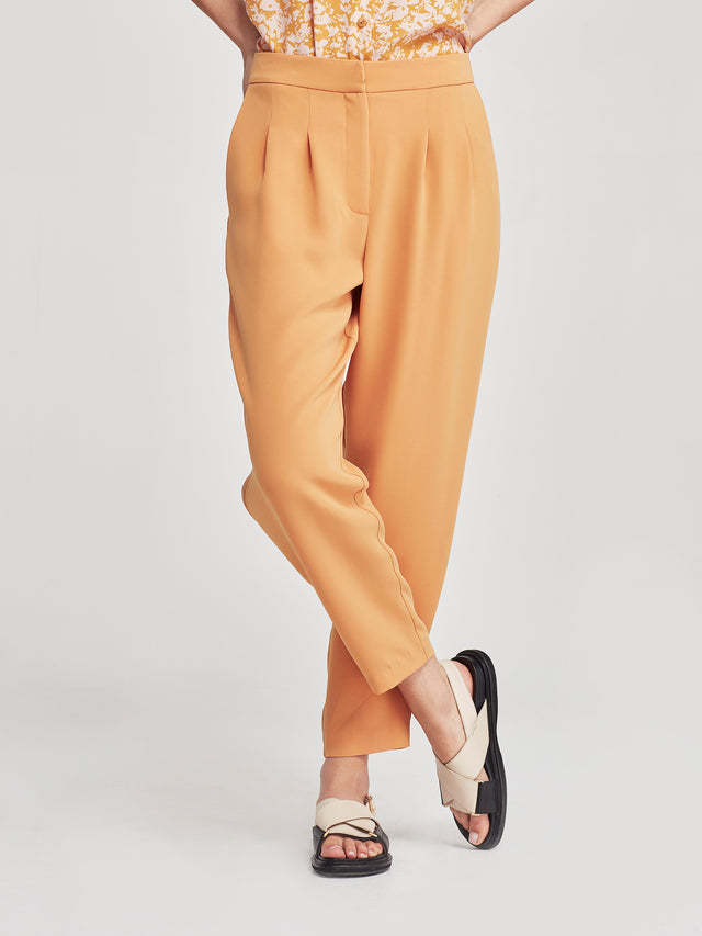 Stanley Cropped Pant (Luxe Triacetate) Marigold