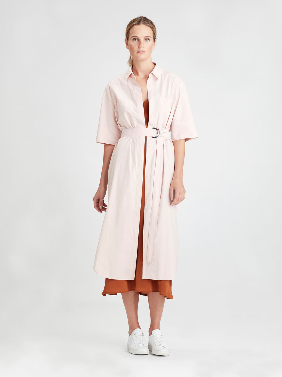 Mila shirt Dress (Crisp Poplin) Rose