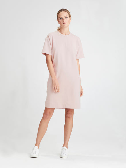 Luxe Box T (Luxe Cotton Sweat Shirting) Dusky Rose