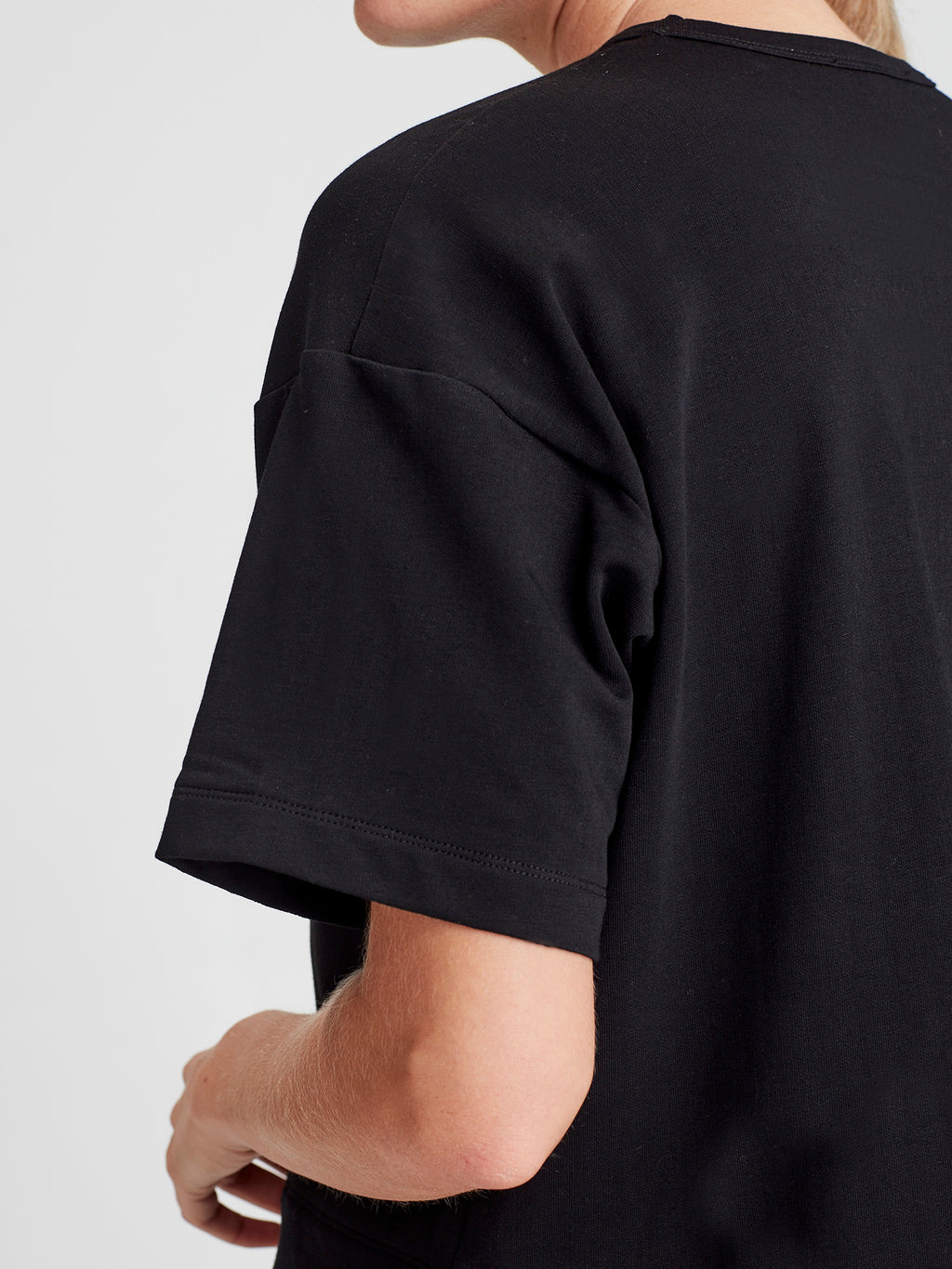 Luxe Box T (Luxe Cotton Sweat Shirting) Black