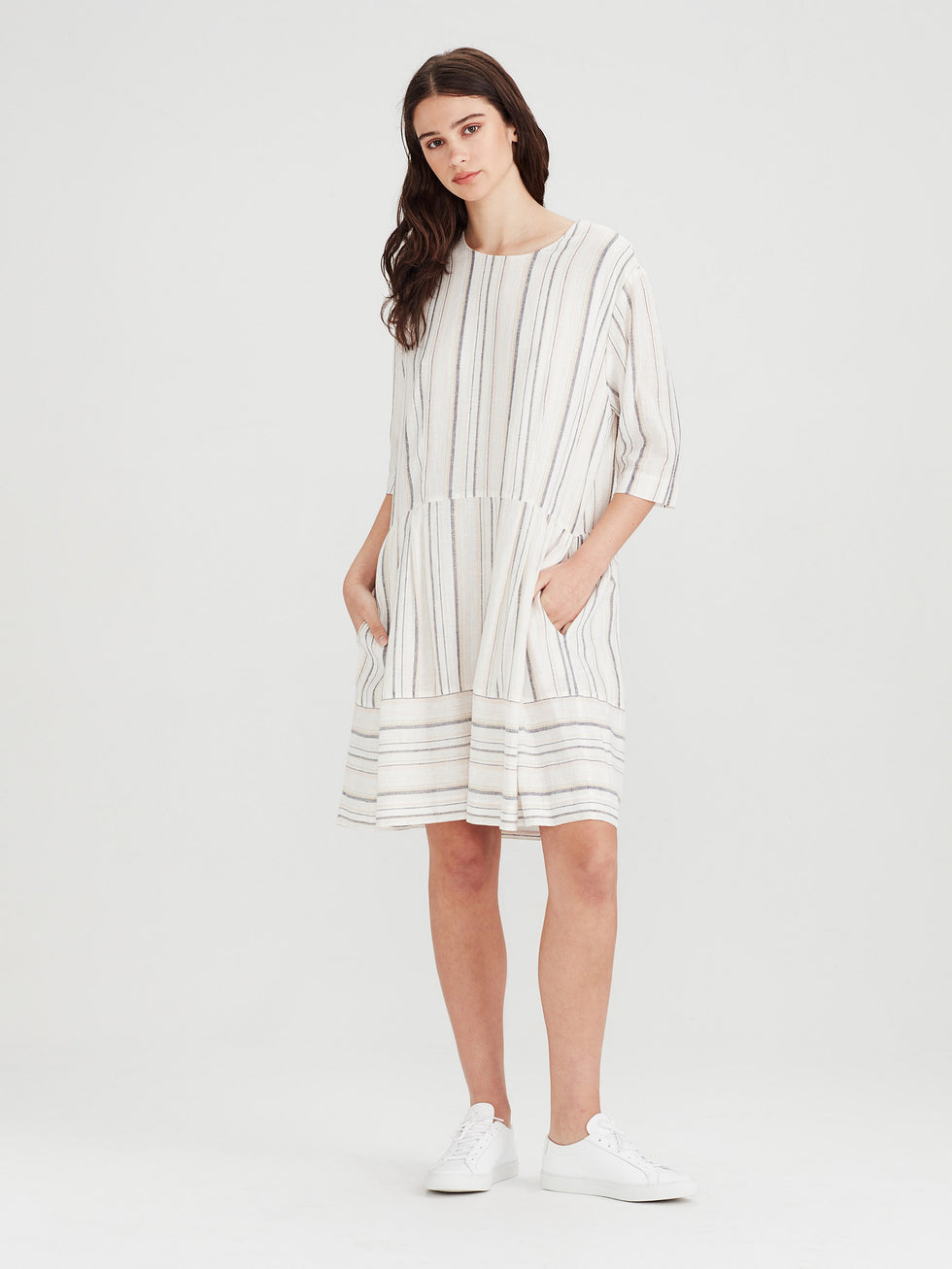Ellie Tunic (Summer Stripe Linen) Candy