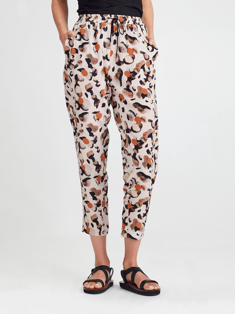Leonard Pant (Surreal Spot Silk) Rose Gold
