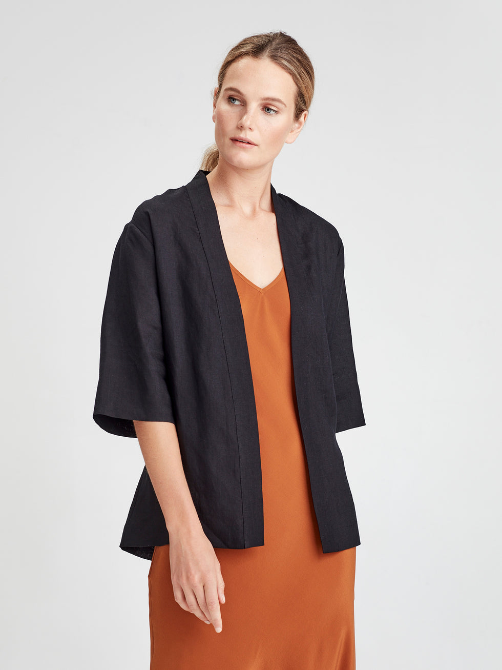 Mio Jacket (Summer Linen) Black