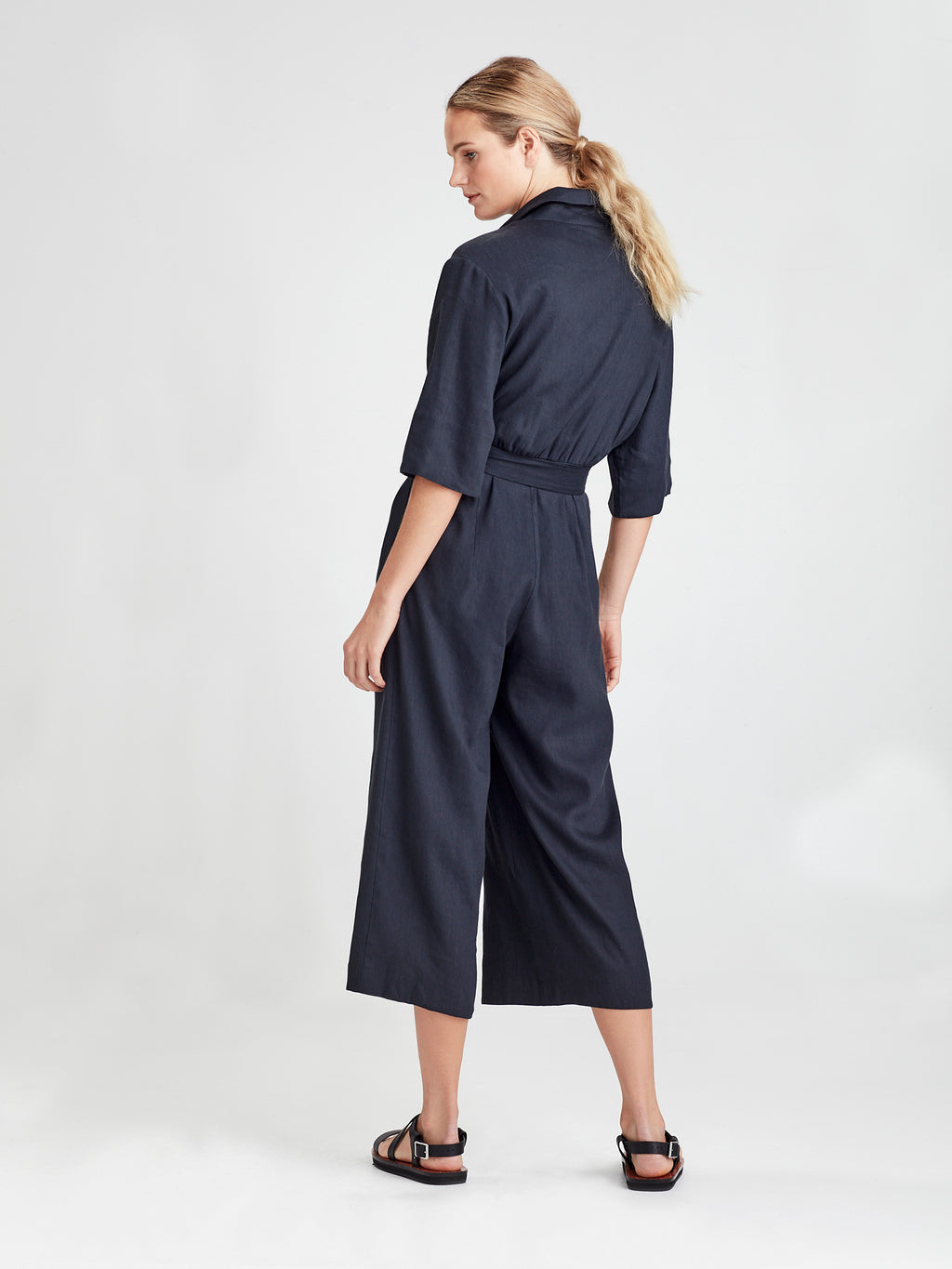 Brooklyn Jumpsuit (Tanuki Twill) Ink