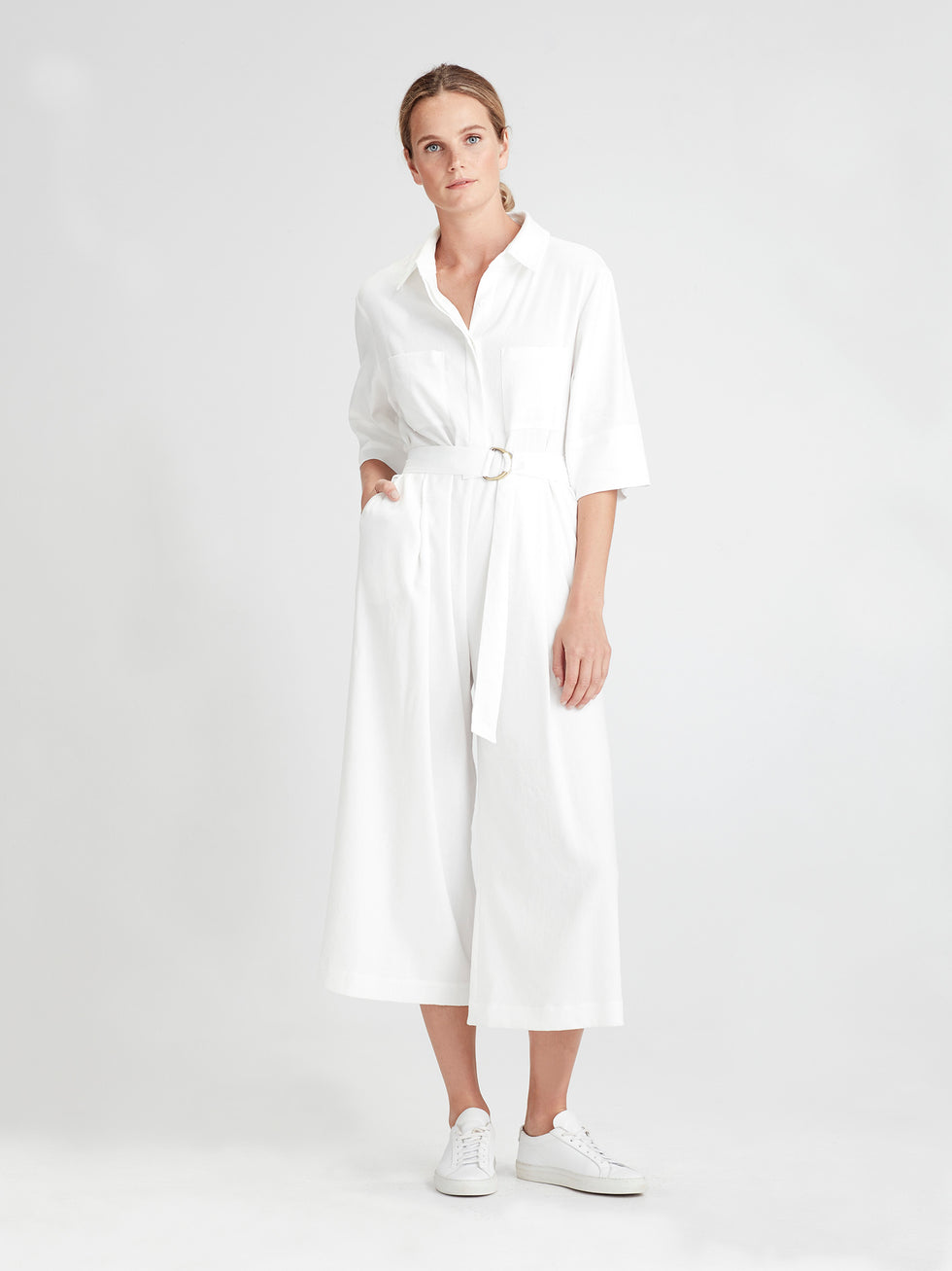 Brooklyn Jumpsuit (Tanuki Twill) White