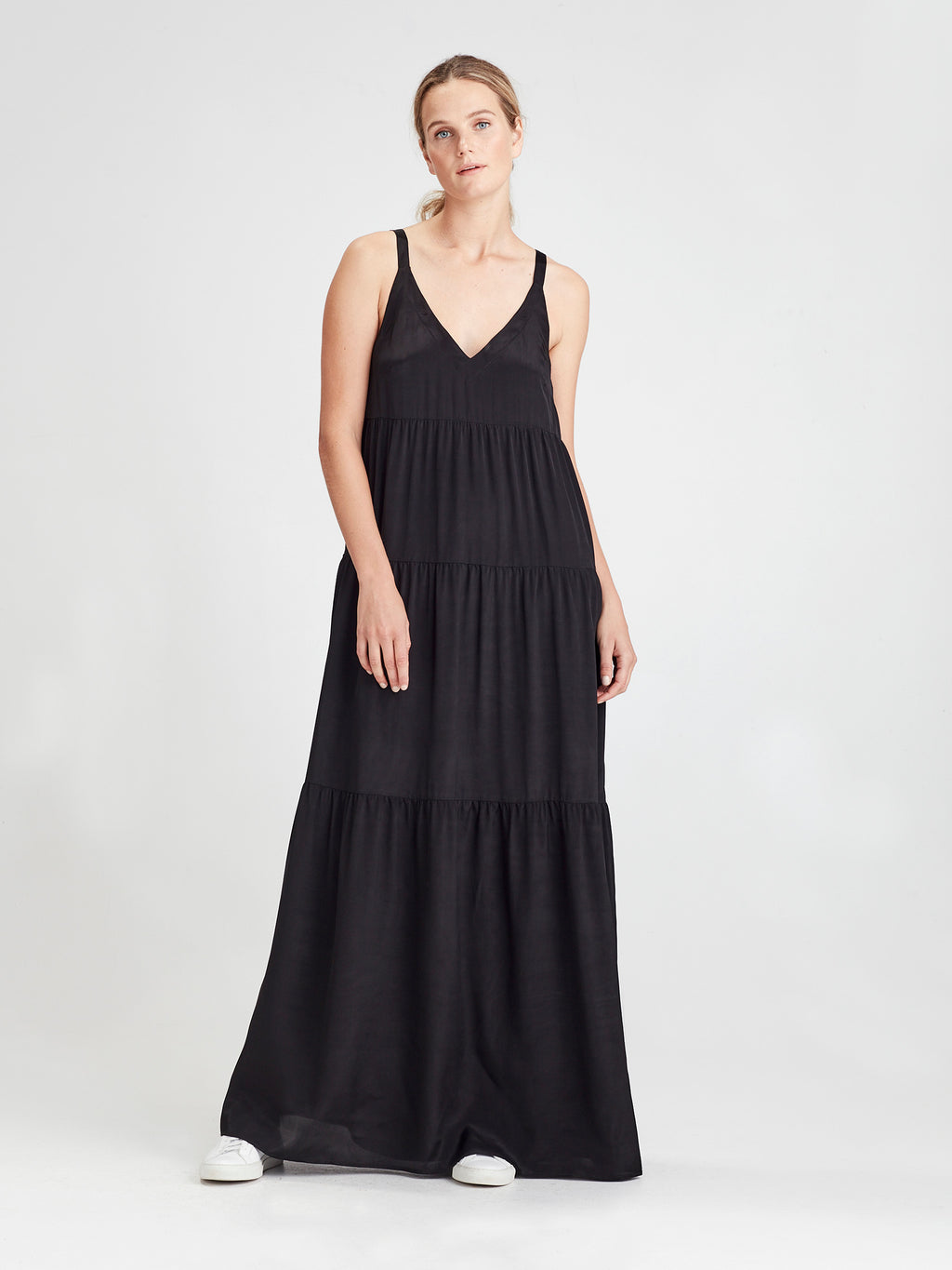 Anmari Dress (Viscose Silk) Black