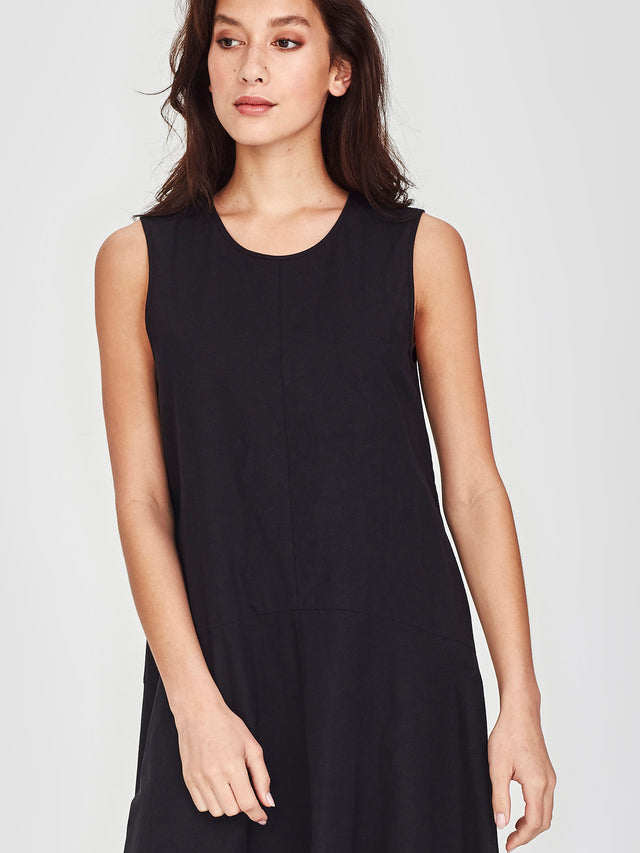 Estella Dress (Cotton Hemp) Black