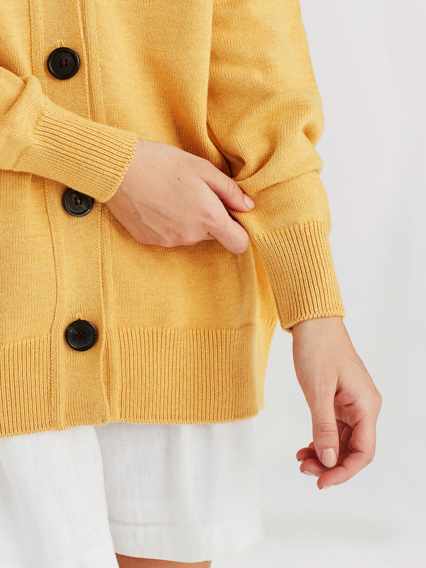 Marvin Cardi (Cotton Knit) Turmeric