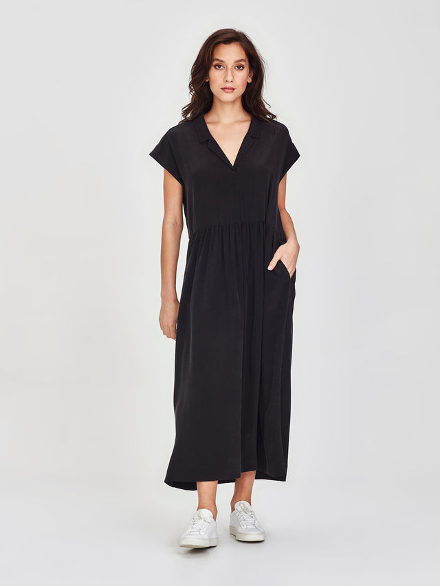 Maddie Dress (Soft Silk) Black