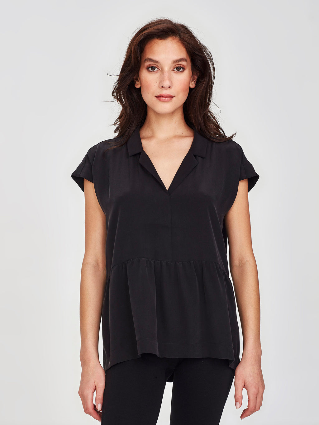 Meg Shirt (Soft Silk) Black