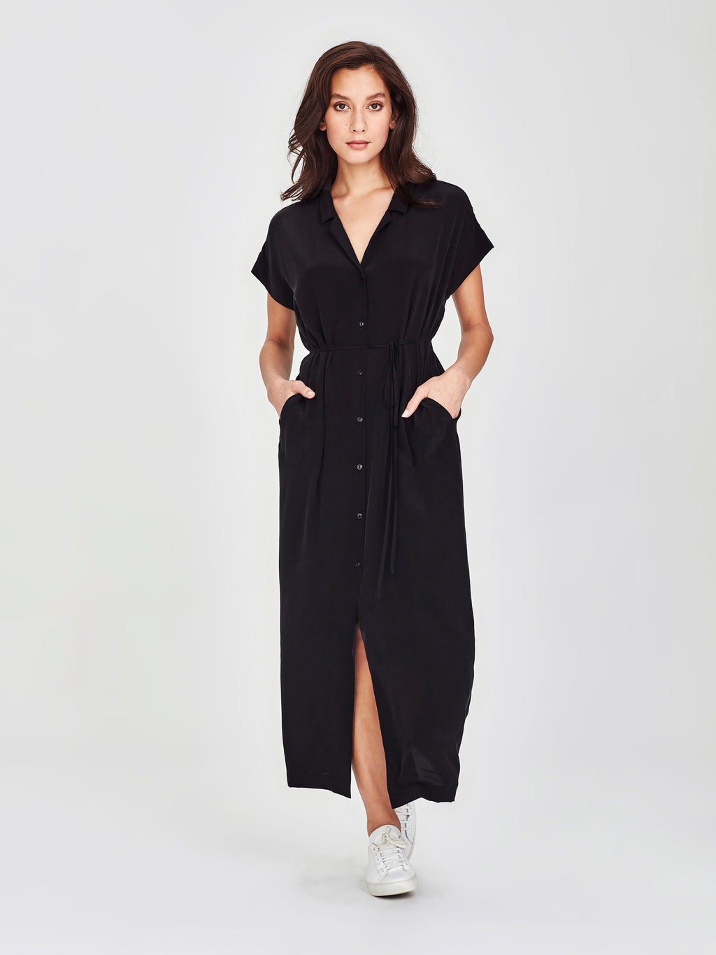 Shadow Shirtdress (Luxe De Chine) Black
