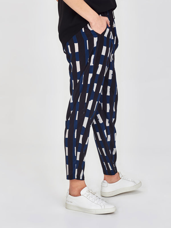 Leonard Pant (Collage Stripe) Ink