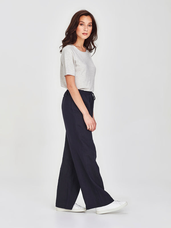 Polly Pant (Summer Linen) Navy