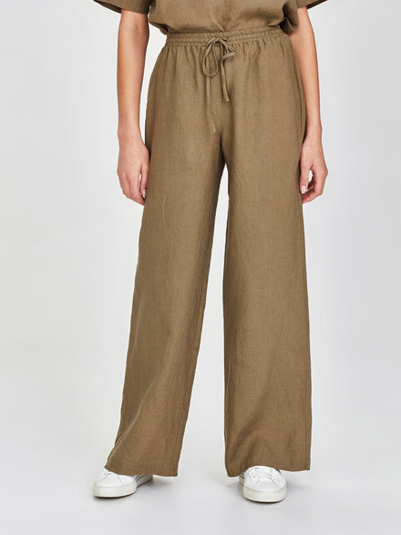 Polly Pant (Summer Linen) Olive