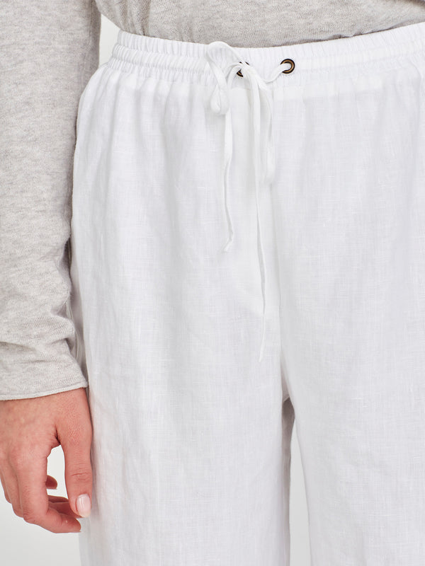 Polly Pant (Summer Linen) White