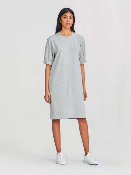 Blossom Dress (Terry Knit) Grey Marle