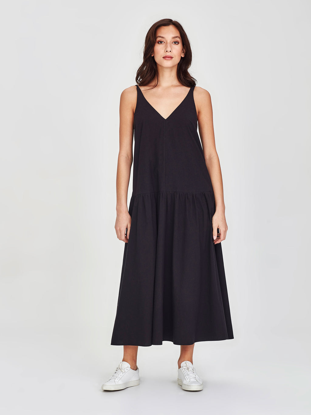 Verona Dress (Washed Cotton) Black