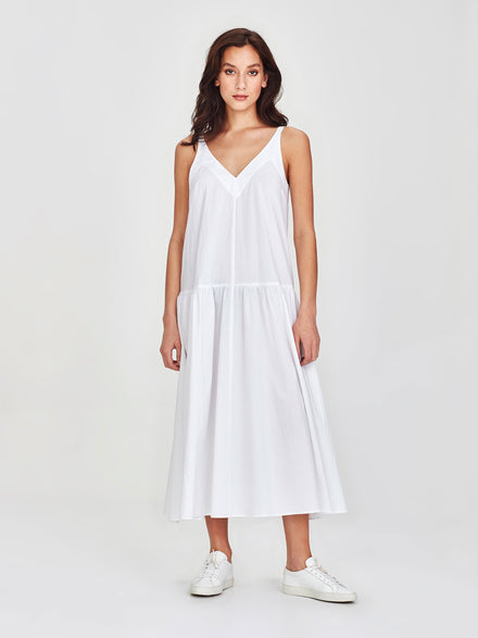 Verona Dress (Washed Cotton) White