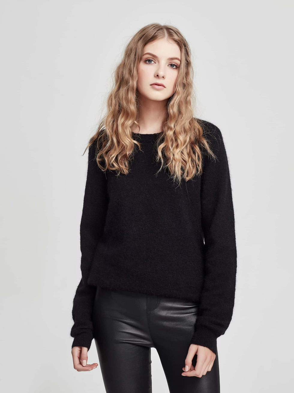 Joe Mohair Sweater (Mohair) Black
