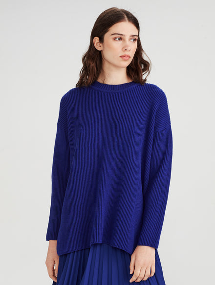 Merino Rib Sweater (Merino Knit) Chalk