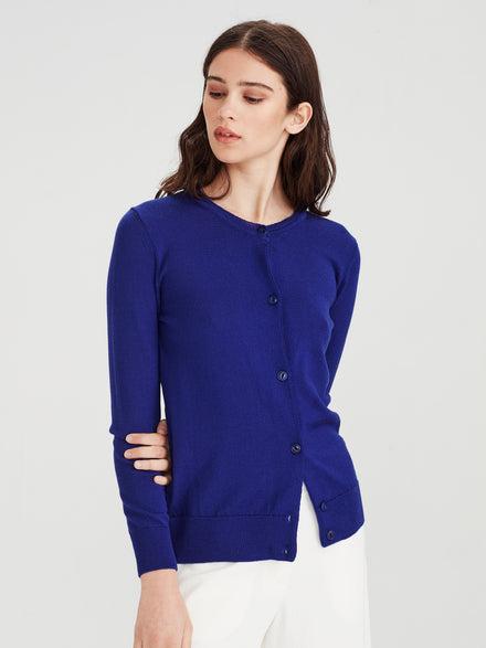 Merino Rib Sweater (Merino Knit) Electric Blue