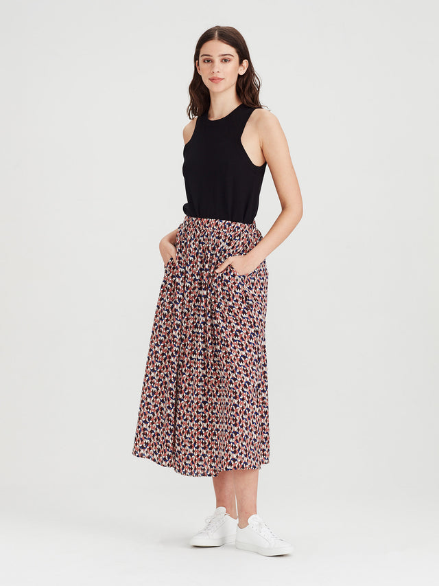 Arcade Skirt (Tesalate Print) Jewel