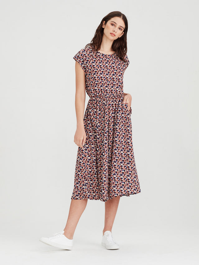 Fenella Dress (Tesalate Print) Jewel