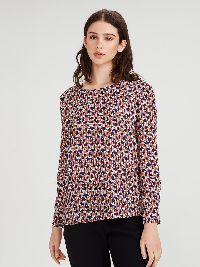 Noelene Blouse (Tesalate Print) Jewel