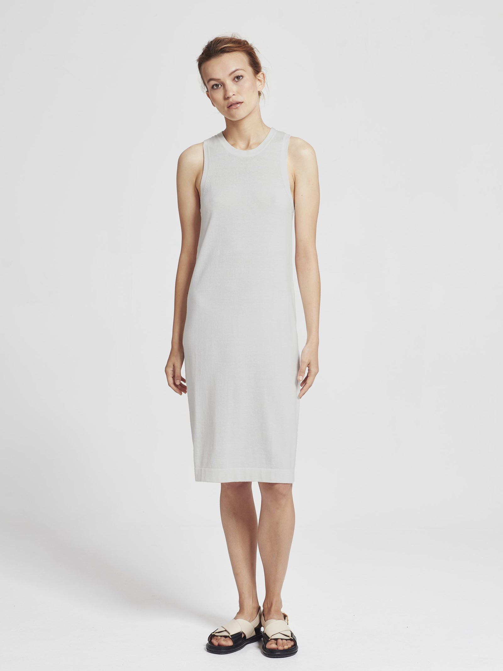 Luxe Tank Dress (Cotton Cashmere) Ash