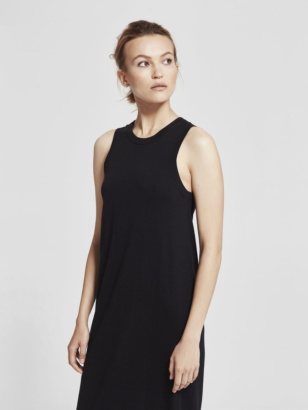 Luxe Tank Dress (Cotton Cashmere) Black