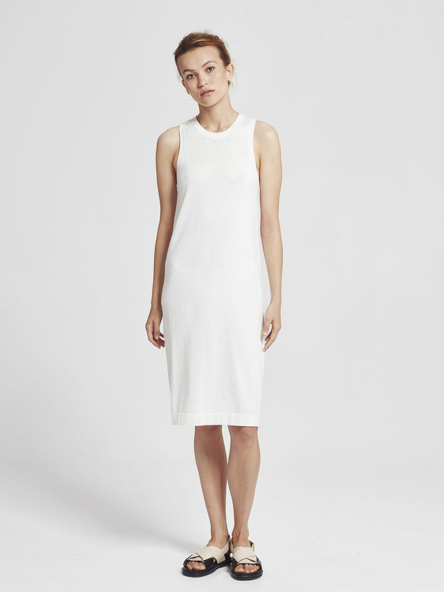 Luxe Tank Dress (Cotton Cashmere) Snow