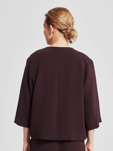 Aster Swing Jacket (Luxe Triacetate) Aubergine