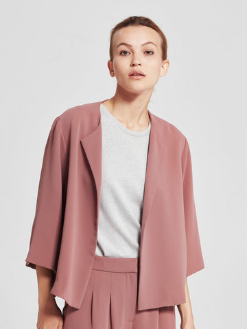 Aster Swing Jacket (Luxe Triacetate) Rose