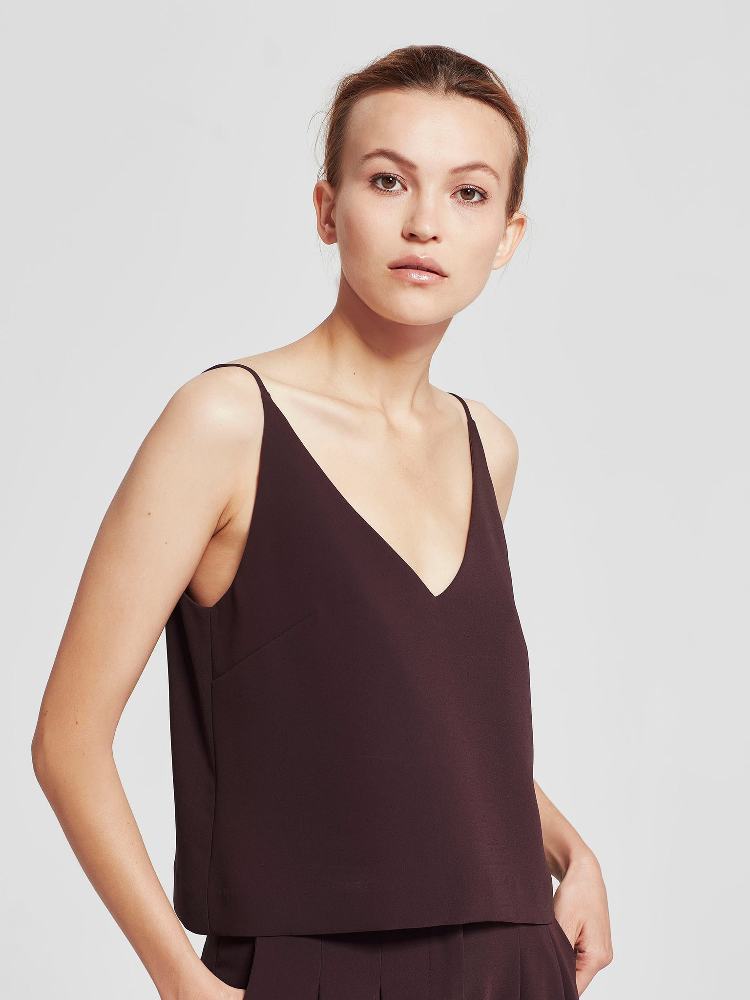 Bay Cami (Luxe Triacetate) Aubergine