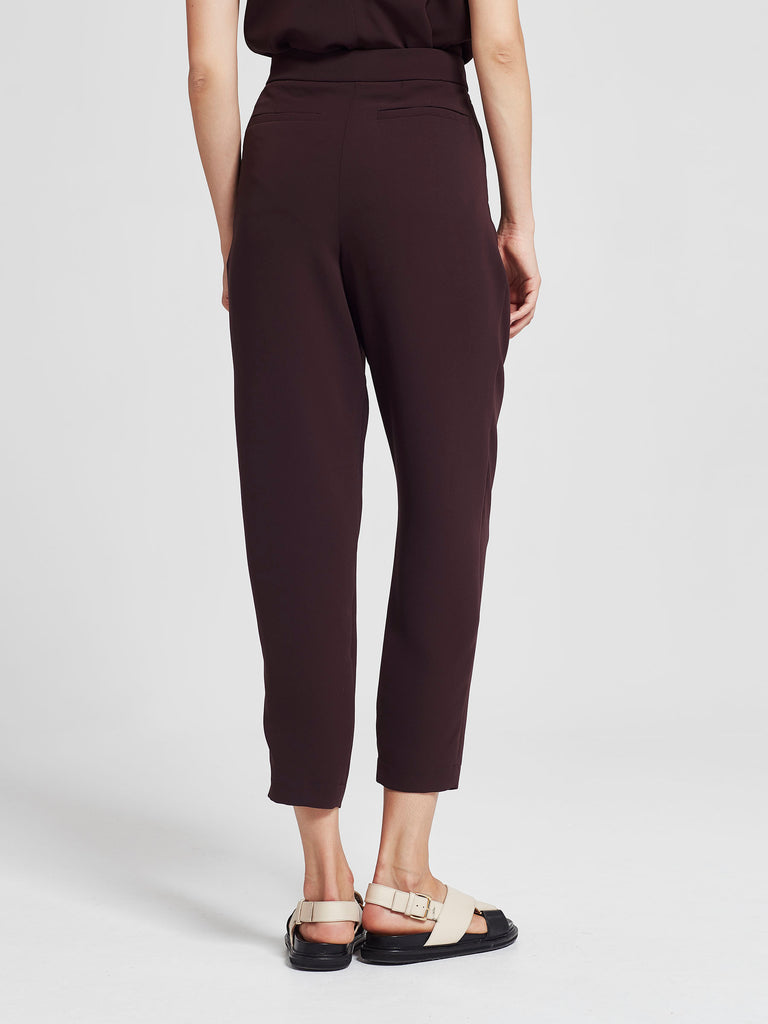Stanley Cropped Pant (Luxe Triacetate) Aubergine