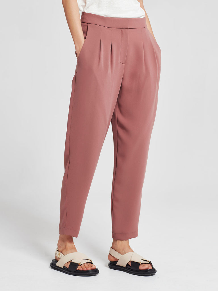 Stanley Cropped Pant (Luxe Triacetate) Rose