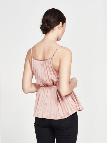 Cove Cami (Pleated Satin) Petal