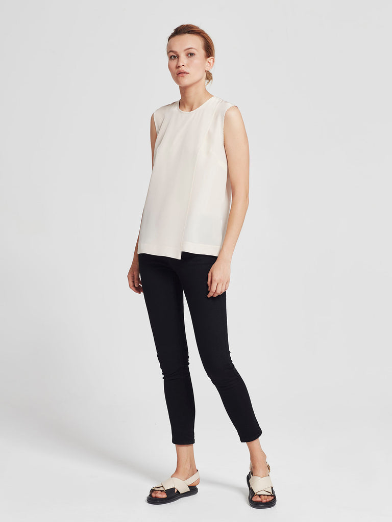 Reed Wrap Tank (Monochrome Silk) Powder
