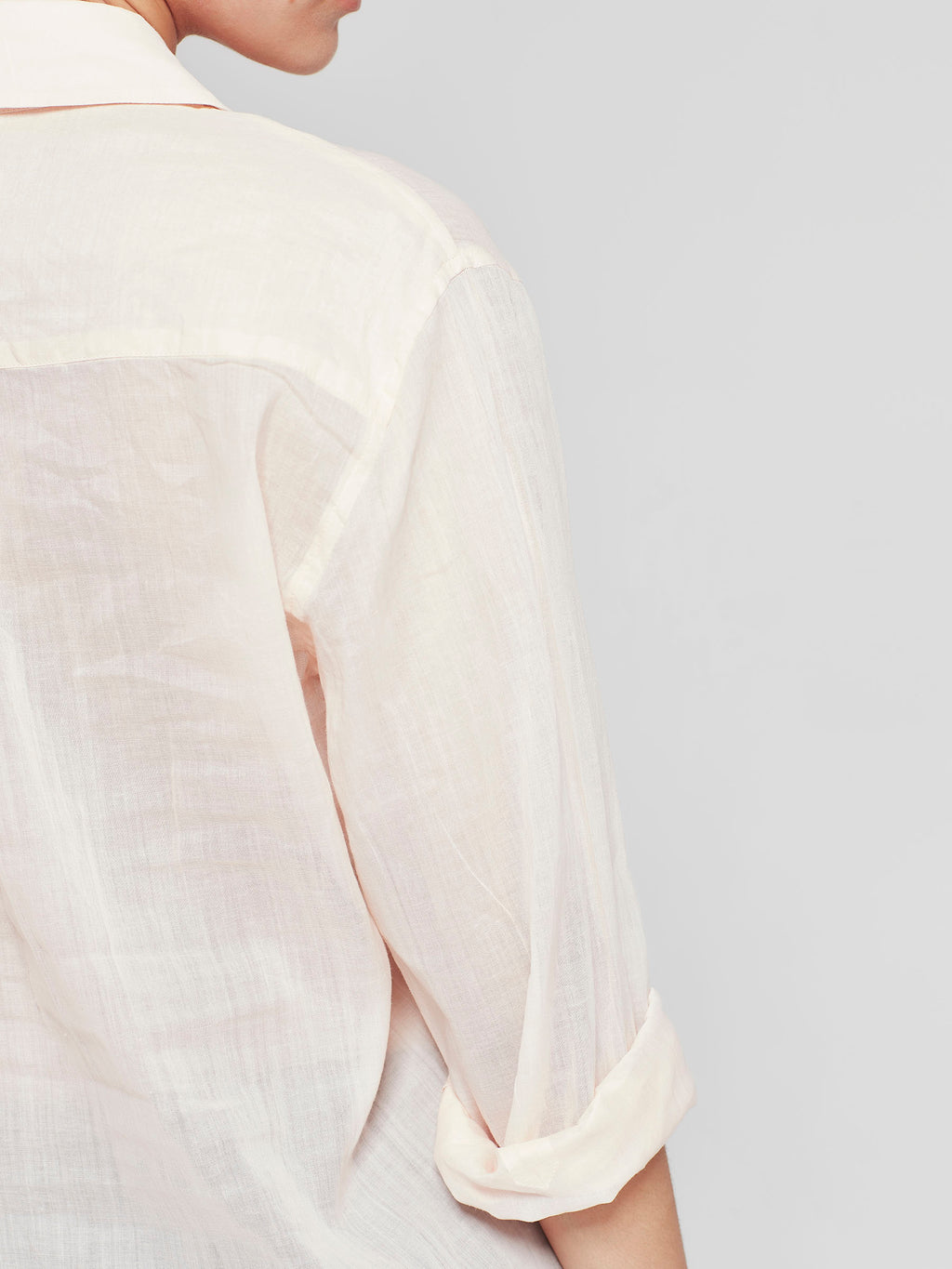 Cohen Shirt (Sheer Cotton) Blush Pink