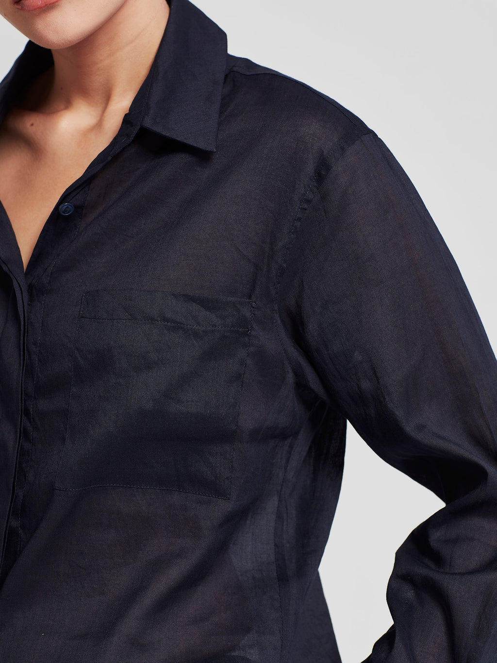 Cohen Shirt (Sheer Cotton) Mignight