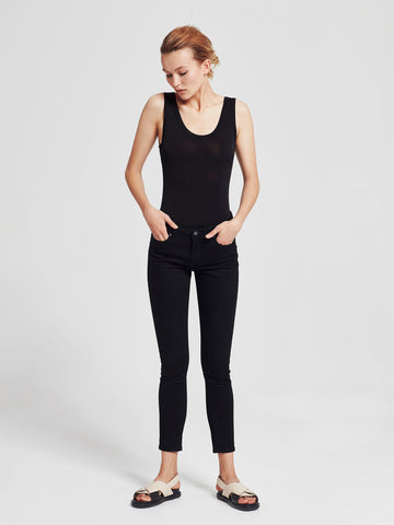 Tank Bodysuit (Slinky Knit) Black