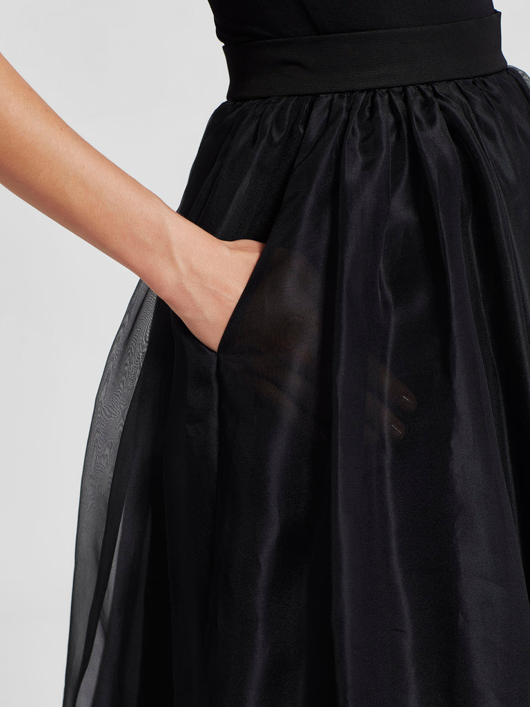 Cindy Skirt (Silk Organza) Black