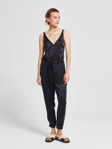 Linden Jumpsuit (Triacetate Twill) Milk