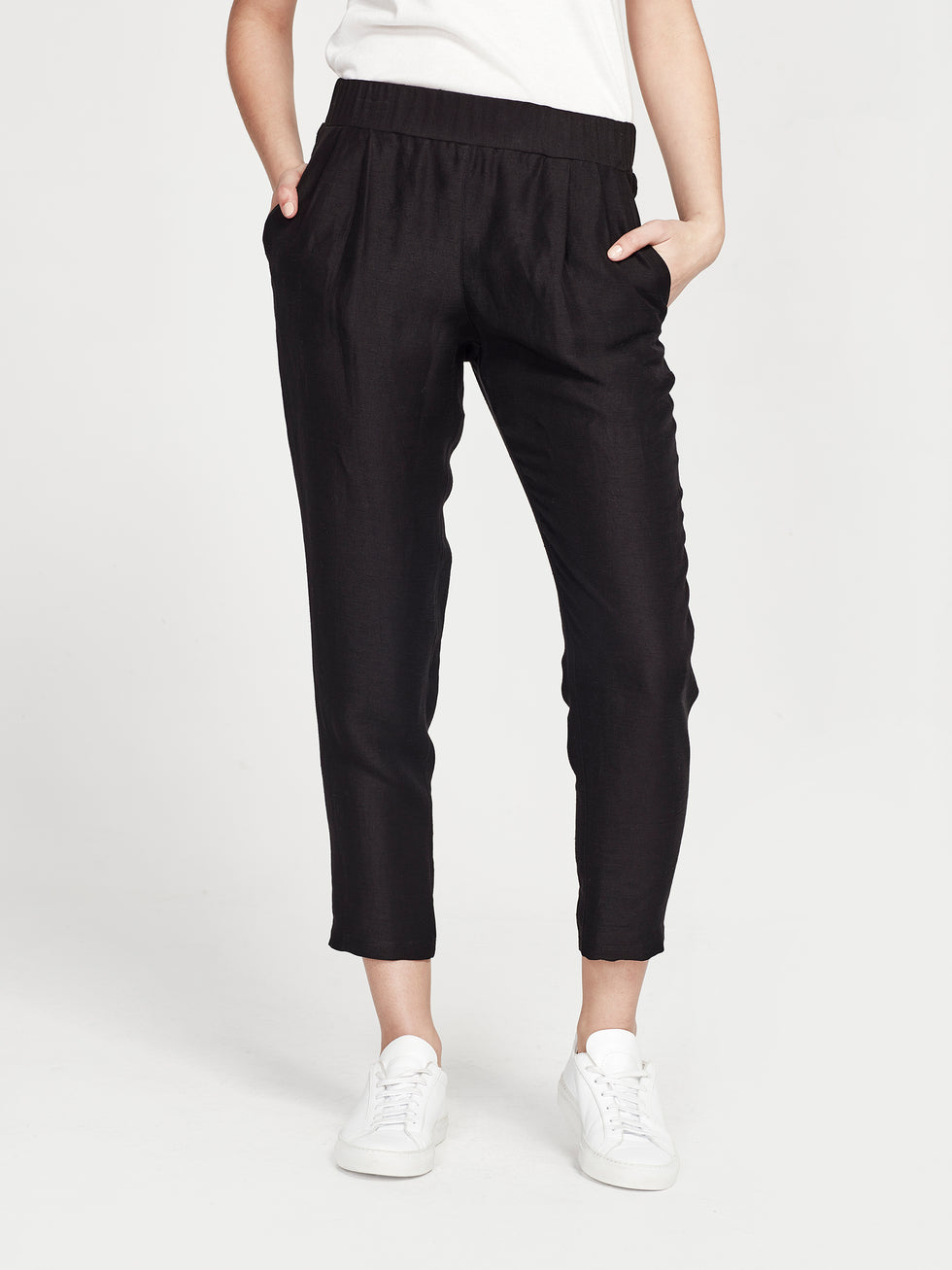 Mal Pant (Triacetate Linen) Black