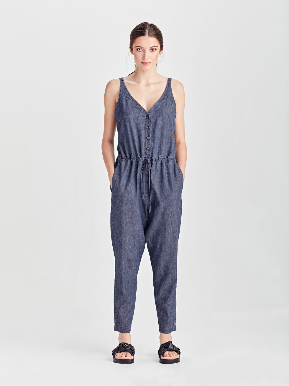 Salder Jumpsuit (Cotton Chambray) Chambray