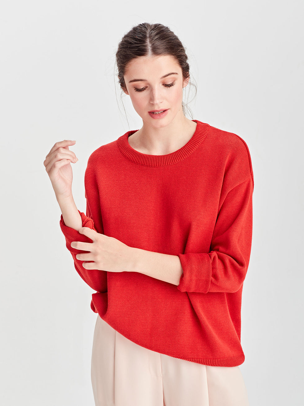 Cotton Sweatshirt (Cotton Knit) Cherry
